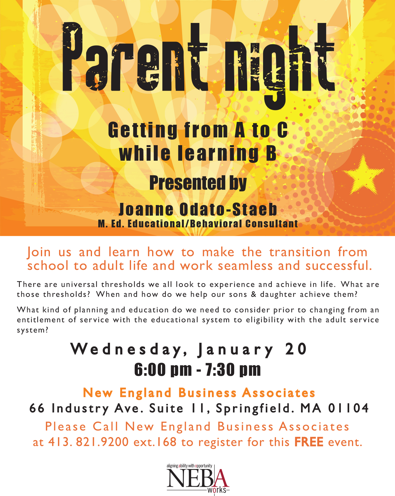 parent night flyers