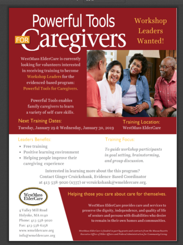 Workshop Leader Training for Powerful Tools for Caregivers – Human
